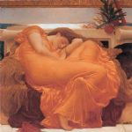 lord frederick leighton famous paintings - leighton flaming june by lord frederick leighton