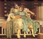 lord frederick leighton famous paintings - leighton music lesson by lord frederick leighton