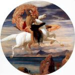 lord frederick leighton perseus on pegasus hastening to the rescue of andromeda painting 81576