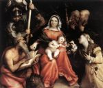 lorenzo lotto acrylic paintings - mystic marriage of st catherine by lorenzo lotto