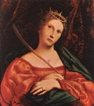 lorenzo lotto acrylic paintings - st catherine of alexandria by lorenzo lotto