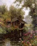 a beaumont le roger by louis aston knight watercolor paintings