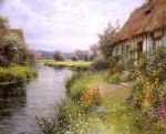a bend in the river by louis aston knight watercolor paintings