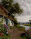 a riverside cottage by louis aston knight watercolor paintings