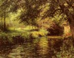a sunny morning at beaumont le roger by louis aston knight watercolor paintings