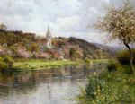 along the seine by louis aston knight watercolor paintings