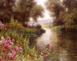 fleur au bord de la riviere by louis aston knight watercolor paintings