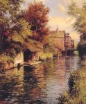 sunny afternoon on the canal by louis aston knight watercolor paintings