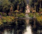 view of a chateaux by louis aston knight watercolor paintings