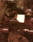 at the piano by louise abbema original paintings