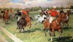 the polo game by ludwig koch painting
