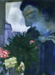 marc chagall self portrait in profile painting