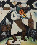 marc chagall the violinist painting