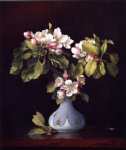 martin johnson heade print - apple blossoms in a vase by martin johnson heade