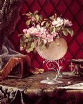 still life famous paintings - still life with apple blossoms in a nautilus shell by martin johnson heade