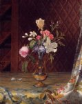 martin johnson heade vase of mixed flowers painting