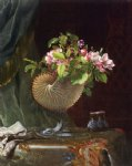 martin johnson heade victorian still life with apple blossoms painting