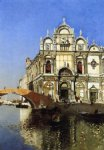 scoula grandi di san marco and campo san giovanni e paolo venice by martin rico y ortega oil paintings