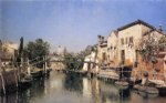venetian canal scene by martin rico y ortega oil paintings