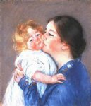 mary cassatt a kiss for baby ann no.2 painting 28821