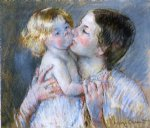 mary cassatt a kiss for baby anne no. 3 painting 28822