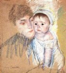 baby famous paintings - baby bill in cap and shift by mary cassatt