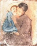 baby famous paintings - baby bill by mary cassatt
