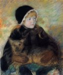 mary cassatt elsie cassatt holding a big dog art