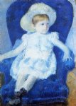 mary cassatt elsie in a blue chair art