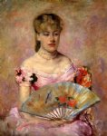 mary cassatt lady with a fan painting