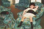 little girl in a blue armchair 1878 by mary cassatt oil paintings