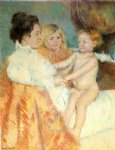baby original paintings - mother sara and the baby counterproof by mary cassatt