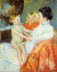 baby original paintings - mother sara and the baby by mary cassatt