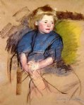 mary cassatt portrait of a young girl simone painting-28950