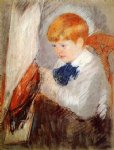 mary cassatt robert and his sailboat painting