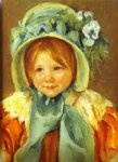 mary cassatt sarah in a green bonnet painting