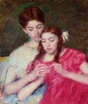 the crochet lesson by mary cassatt posters
