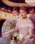 two women in a theater box by mary cassatt posters