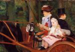 woman and child driving by mary cassatt posters