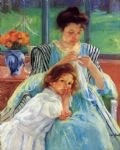 young mother sewing 1902 by mary cassatt posters