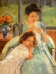 young mother sewing by mary cassatt posters