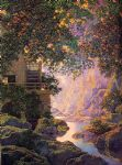 the old glen mill by maxfield parrish painting