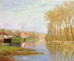 march sunlight port by maxime maufra painting