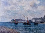 reentering port at douarnenez by maxime maufra painting