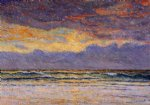 maxime maufra famous paintings - sunset margat by maxime maufra