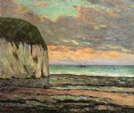 maxime maufra famous paintings - sunset yport by maxime maufra
