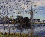 maxime maufra famous paintings - the banks of the pond at rosporden finistere by maxime maufra