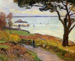 maxime maufra famous paintings - the bay of douarnenez by maxime maufra