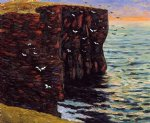 maxime maufra famous paintings - the black cliffs at thurso ecosse by maxime maufra