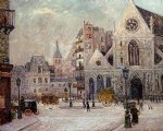 maxime maufra famous paintings - the church of saint nicolas of the fields rue saint martin by maxime maufra